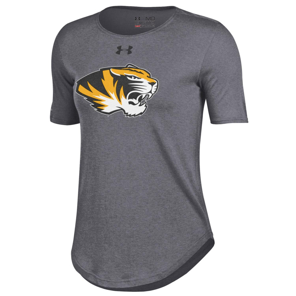 Missouri Tigers Ladies Gray 60/40 T-Shirt by Under Armour