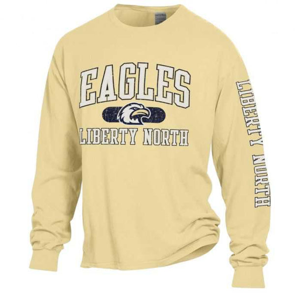 Liberty North Eagles Comfort Wash Logo Long Sleeve T-Shirt by Gear