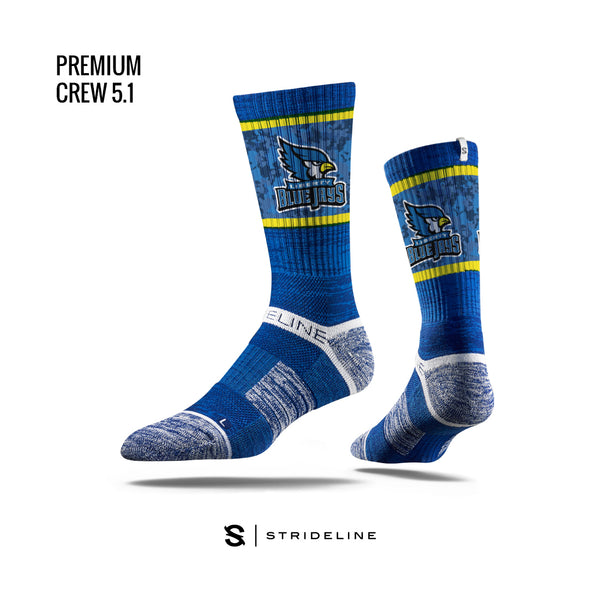 Liberty Blue Jays Royal Blue Camo Design Socks by Strideline