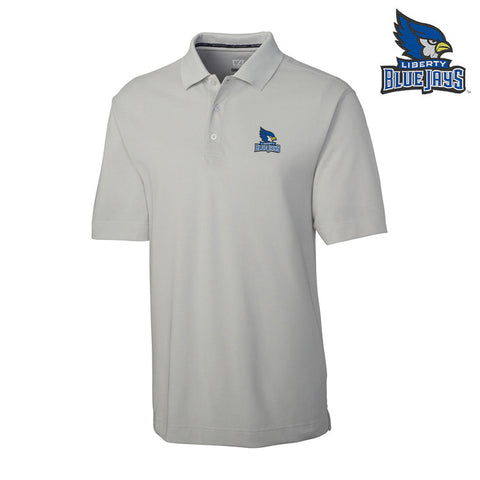 Liberty Blue Jays Men's Gray DryTec Polo by Cutter & Buck
