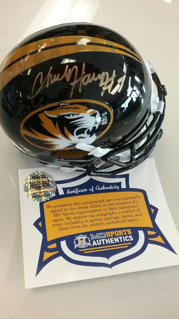 Missouri Tigers Charles Harris Signed Autographed Shiny Oval Mini Helmet COA