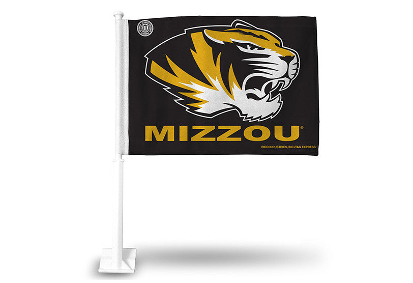Missouri Tigers Black Car Flag by Rico