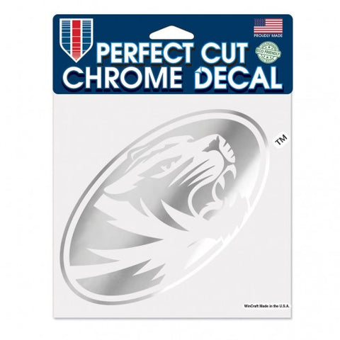 "Missouri Tigers Chrome Perfect Cut Decal 6"" x 6"""
