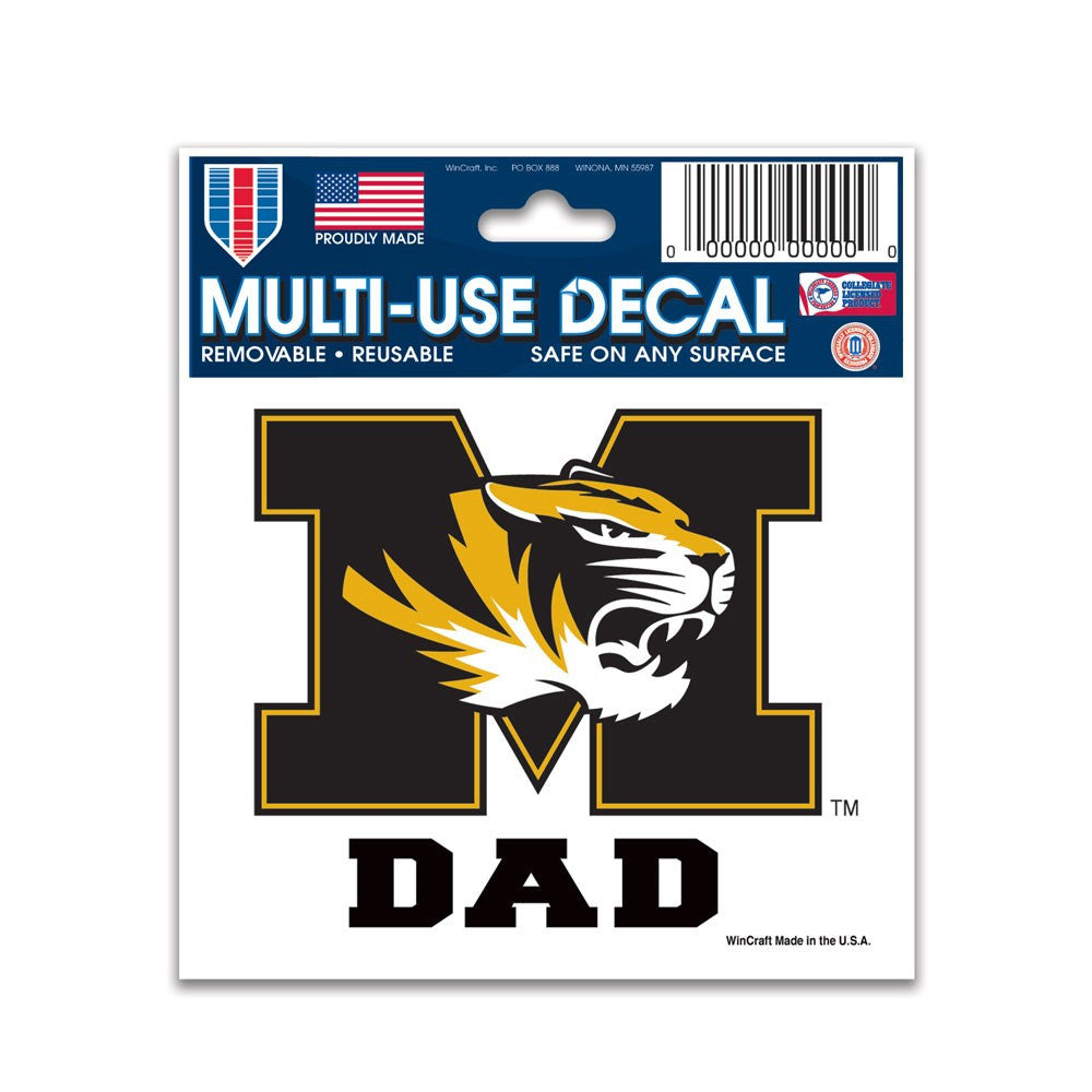 "University of Missouri Dad Multi-Use Decal 3"" x 4"" by WIncraft"