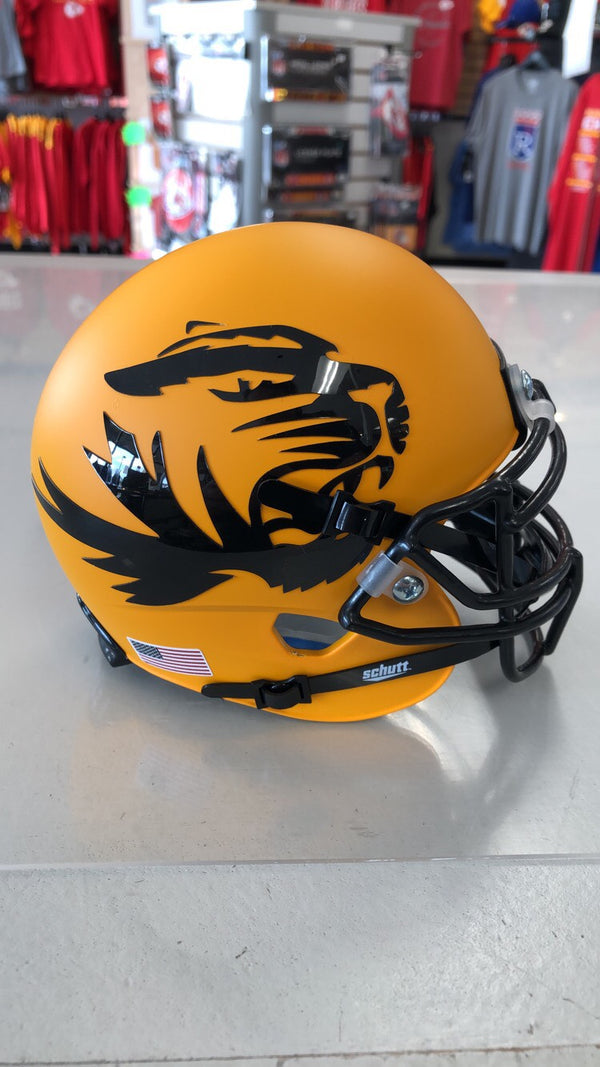 Missouri Tigers Alternate Gold Schutt Mini Helmet