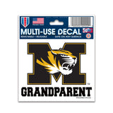 University of Missouri Grandparent Multi-Use Decal 3