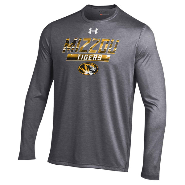 Missouri Tigers Long Sleeve Carbon Heather Long Sleeve Tech Tee by Under Armour