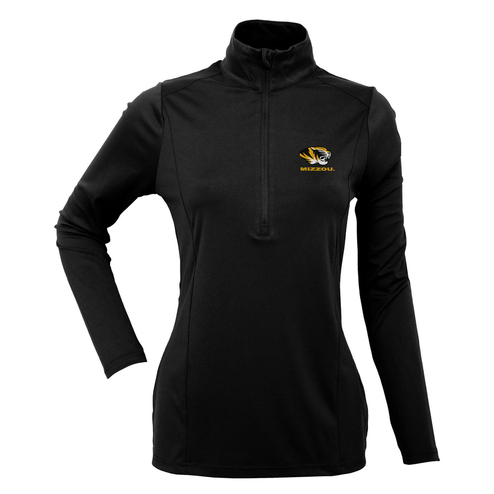 Missouri Tigers Ladies 1/4 Zip Expression Pullover by Antigua