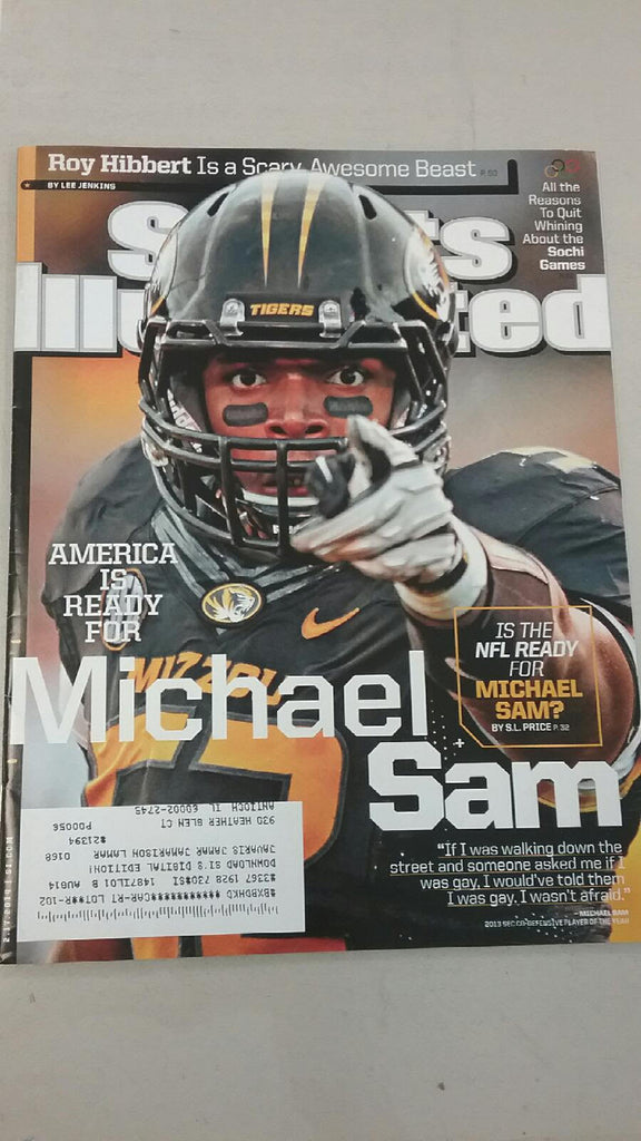 Missouri Tigers Sports Illustrated Magazine Michael Sam Cover 2-17-14