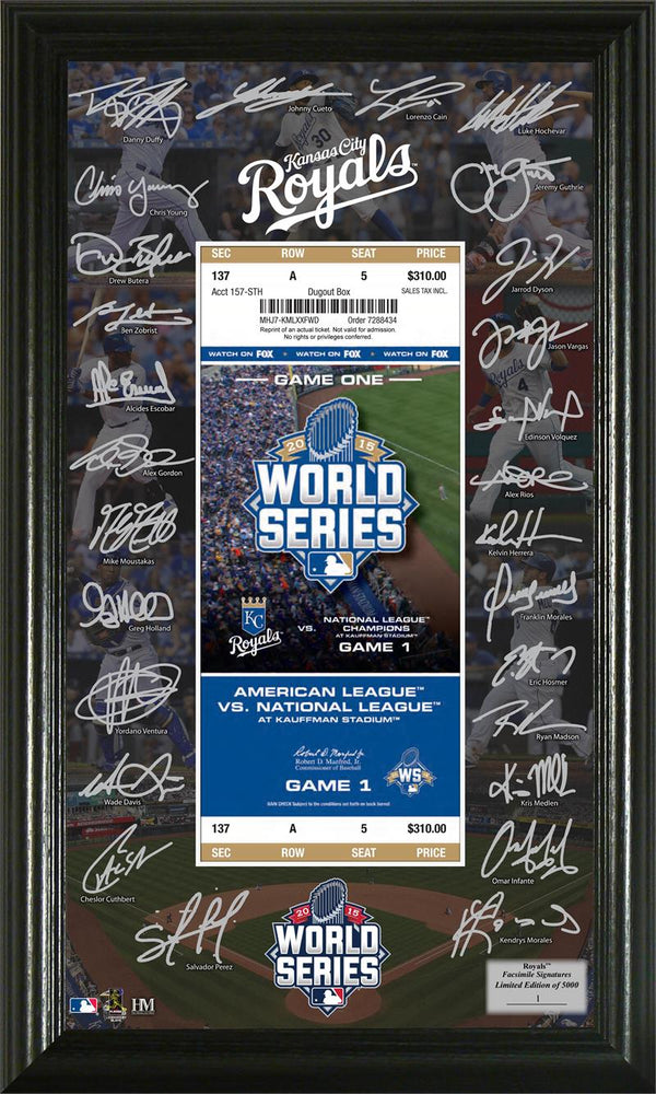 Kansas City Royals 2015 World Series Signature Ticket