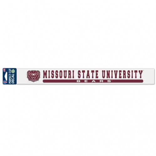 "Missouri State University Perfect Cut Decals 2"" x 17"""