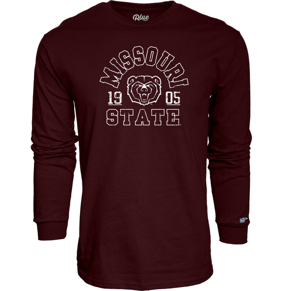 Missouri State University Long Sleeve University T-Shirt by Blue 84