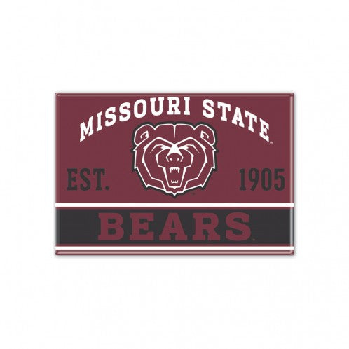 "Missouri State University Metal Magnet 2.5"" x 3.5"""