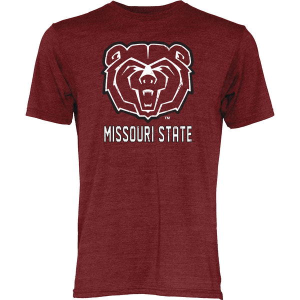 Missouri State University Tri Blend Maroon Big Mascot T-Shirt by Blue 84
