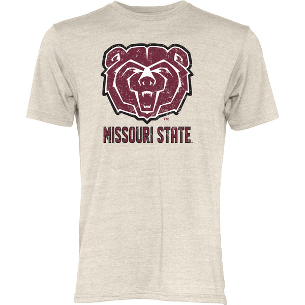 Missouri State University Tri Blend Oatmeal Big Mascot T-Shirt by Blue 84