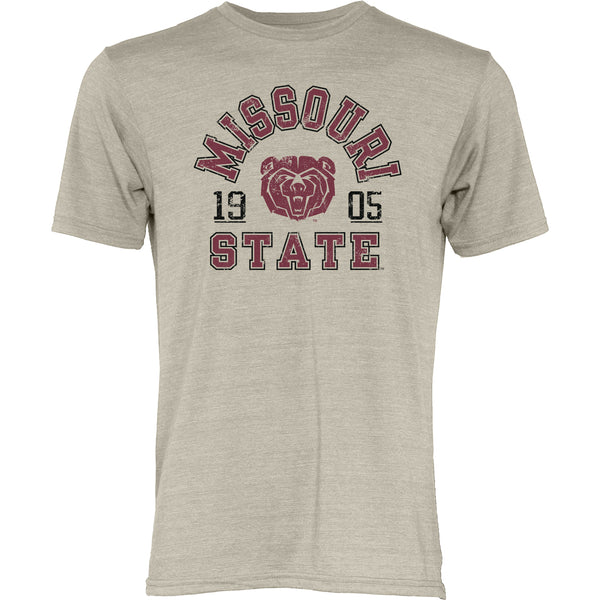 Missouri State University Tri Blend Oatmeal University T-Shirt by Blue 84