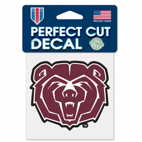 "Missouri State University Perfect Cut Color Decal 4"" x 4"""