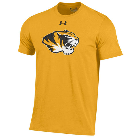 Missouri Tigers Men's Gold Charged Cotton T-Shirt by Under Armour