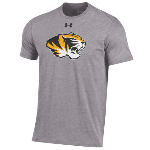 Missouri Tigers Men's Gray Charged Cotton T-Shirt by Under Armour