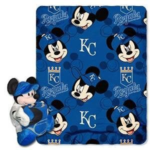 Kansas City Royals MLB Mickey Hugger and Fleece Throw Set