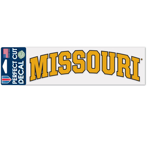 "University of Missouri Arched Perfect Cut Decals 3"" x 10"" by Wincraft"