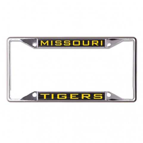 Missouri Tigers Inlaid Metal Lic Plate Frame Small over Small