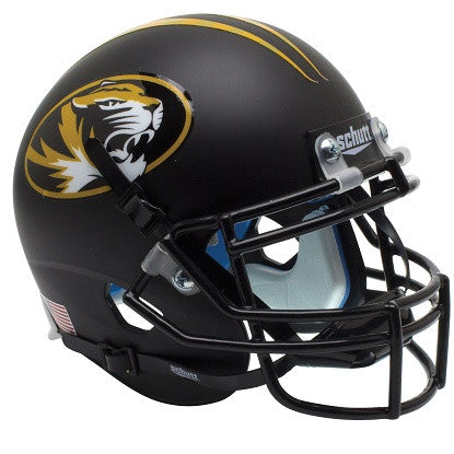 Missouri Tigers Alternate Matte Black with Oval Tiger Mini Authentic Helmet