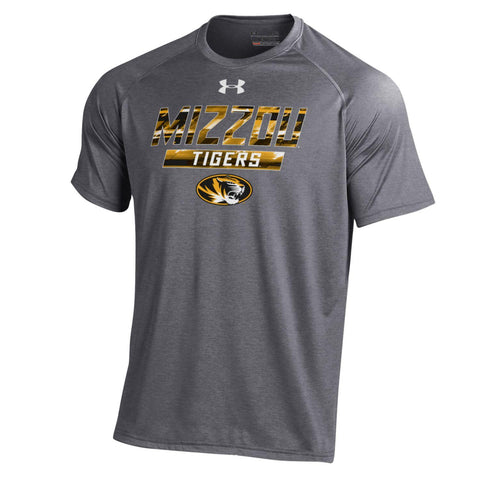 Missouri Tigers Short Sleeve Carbon Heather Tech Tee by Under Armour