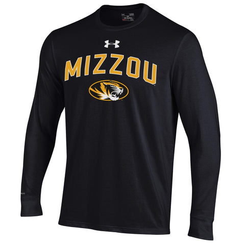 Missouri Tigers Black Long Sleeve Charged Cotton T-Shirt by Under Armour