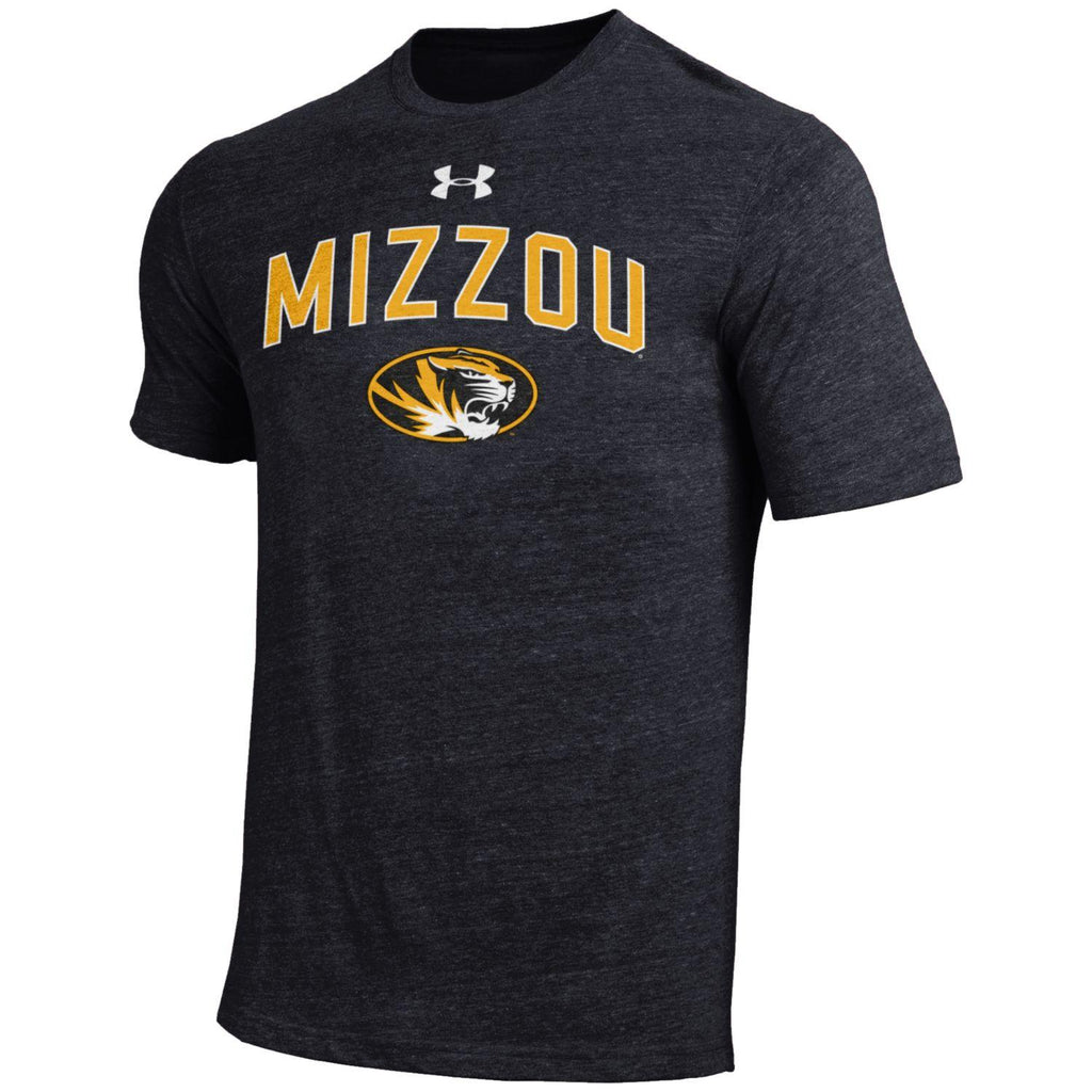 Missouri Tigers Black Legacy Tri Blend Crew T-Shirt by Under Armour