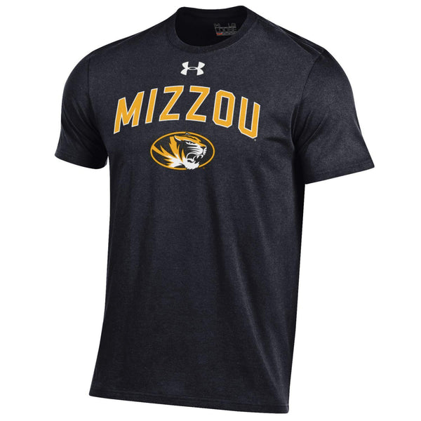 Missouri Tigers Black Short Sleeve Charged Cotton T-Shirt by Under Armour