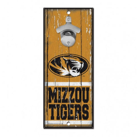 Missouri Tigers Bottle Opener Sign 5x11 by Wincraft