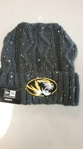 Missouri Tigers Ladies Cable Frosted Knit Hat by New Era