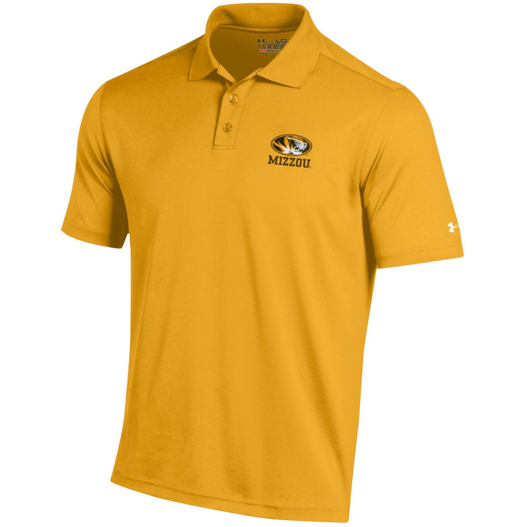 Missouri Tigers Mizzou Steeltown Gold Performance Polo by Under Armour