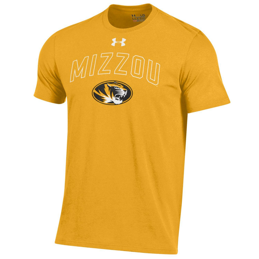 Missouri Tigers Gold Short Sleeve Charged Cotton T-Shirt by Under Armour