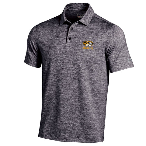 Missouri Tigers Black Heather Elevated Polo by Under Armour