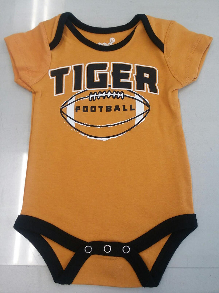 "Missouri Tigers ""Tiger Football"" Gold Onesie Infant Sizes"