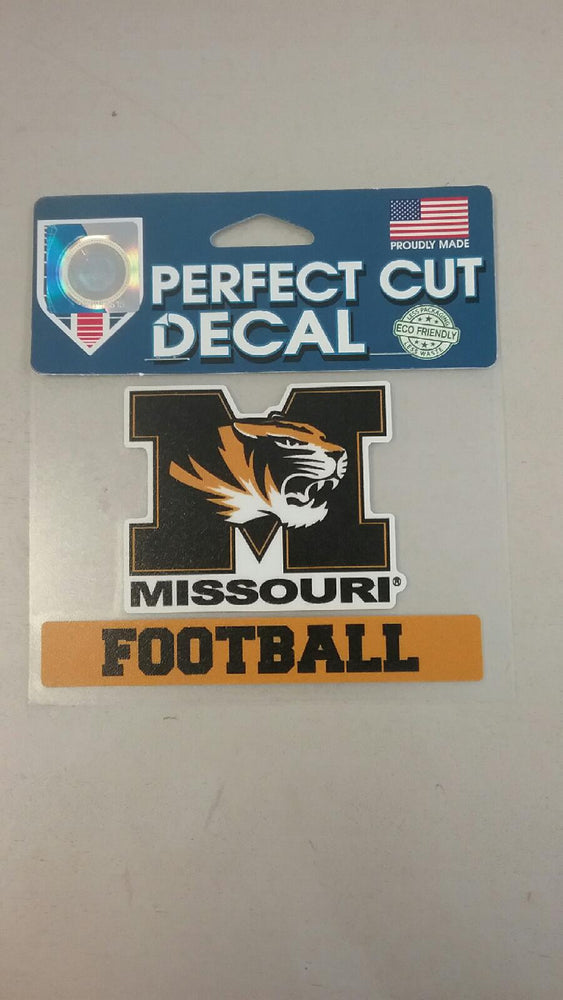 "Missouri Tigers 4""x4"" Football Perfect Cut Decal by Wincraft"