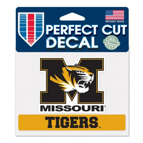 "Missouri Tigers ""Tigers"" Perfect Cut Color Decal 4.5"" x 5.75"""