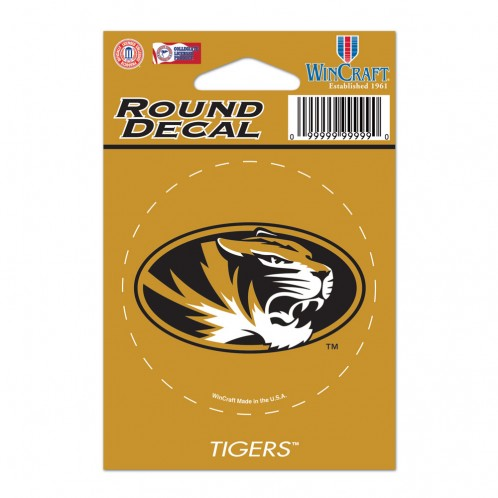 "Missouri Tigers Round Vinyl Decal 3"" x 3"""