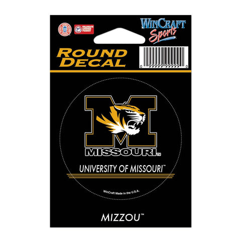 "University of Missouri Round Vinyl Decal 3"" x 3"" by Wincraft"