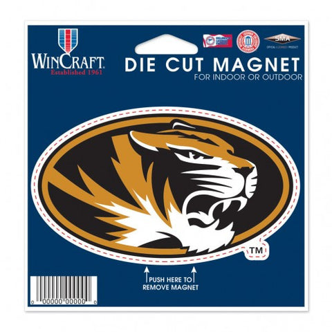 "Missouri Tigers Die Cut Magnet 4.5"" x 6"" by Wincraft"