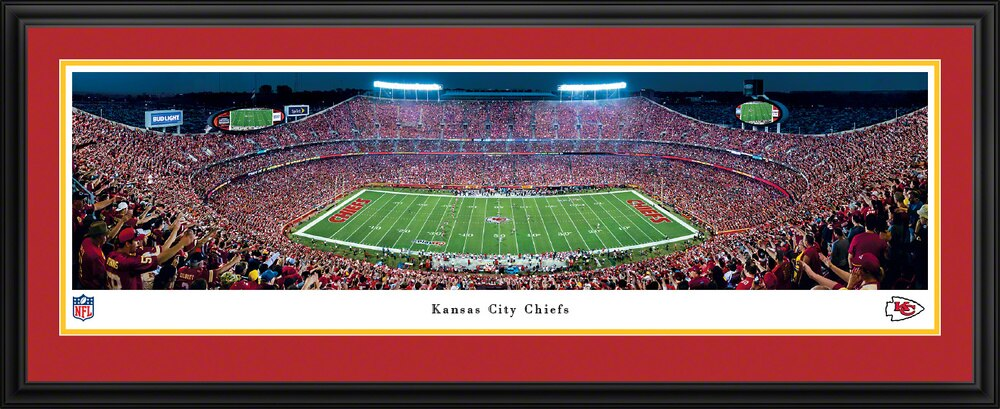 Framed Kansas City Chiefs Panorama - Arrowhead Stadium Night