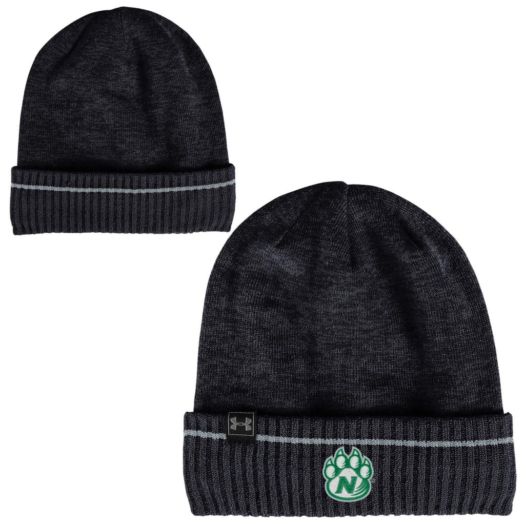 Northwest Missouri State Black Skull Knit Hat by Under Armour