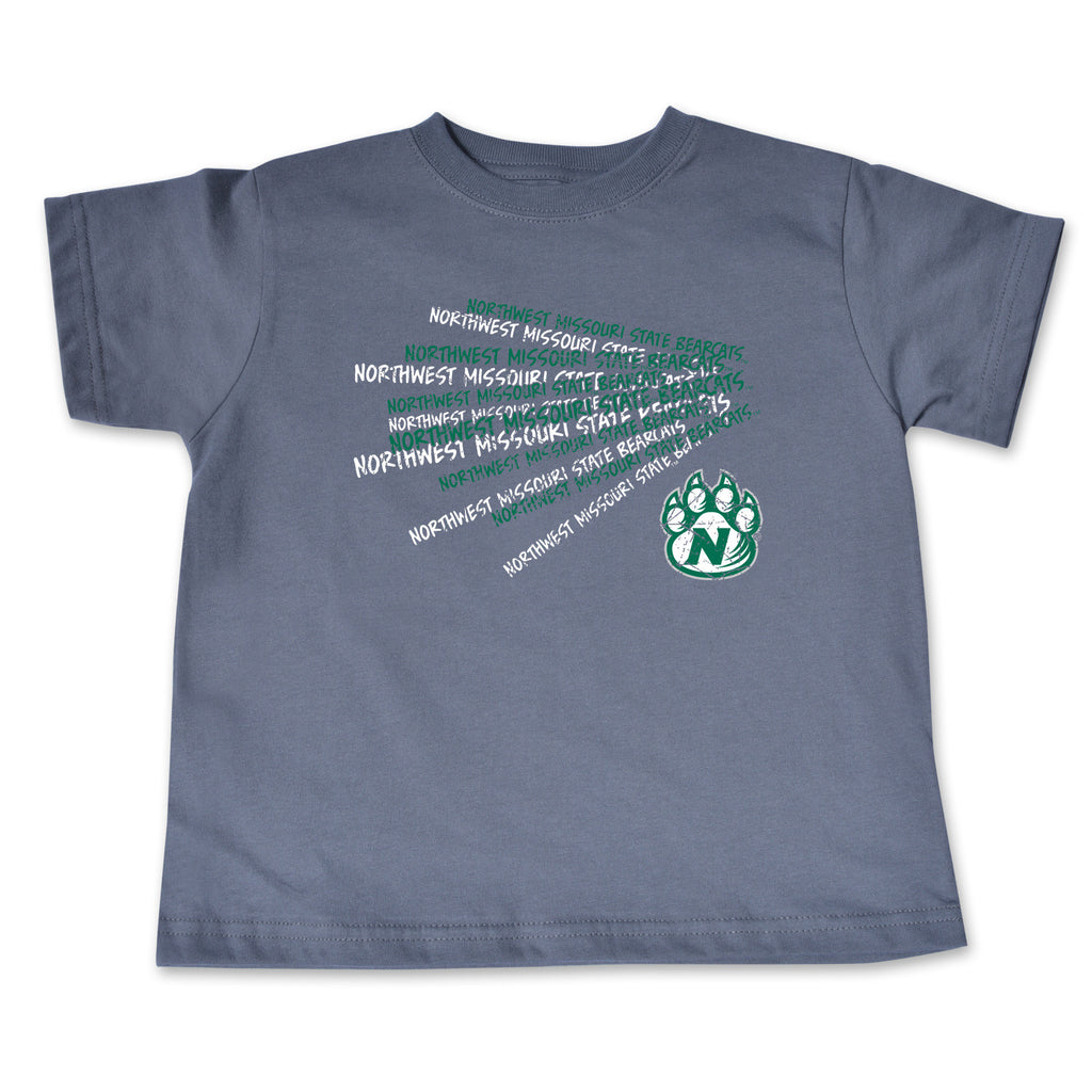 Northwest Missouri State Gray Cheer Design Toddler T-Shirt