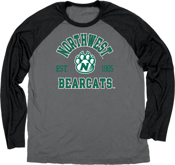 Northwest Missouri State Long Sleeve Raglan T-Shirt by Blue 84