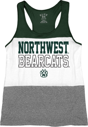Northwest Missouri State Ladies Tri Blend Tri-Color Tanktop by Blue 84