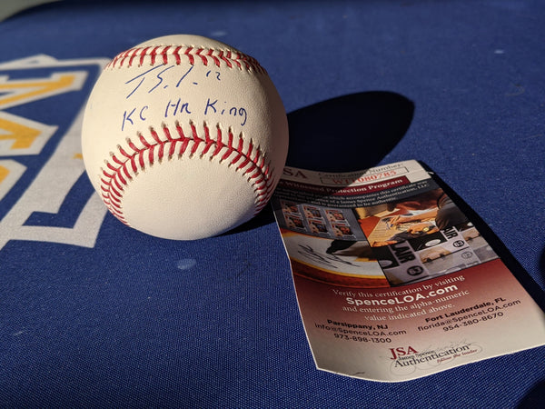Kansas City Royals Jorge Soler Autographed OML Baseball w/KC HR King JSA