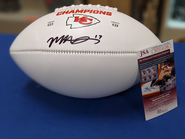 Kansas City Chiefs Mecole Hardman Autographed SB LIV Football JSA