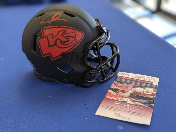 Kansas City Chiefs Chris Jones Signed Eclipse Mini Helmet JSA